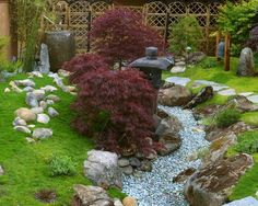 Asian Dry Creek Bed Landscaping Design, Pictures, Remodel, Decor and Ideas