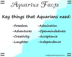 ♒Independent Aquarians♒
