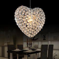 Modern Creative Crystal Heart Dining Room Pendant Lamp Bar Pendant Lamp Living Room Pendant Lamp