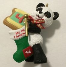 Hallmark Keepsake Ornament My Fourth Christmas '96 Panda Bear
