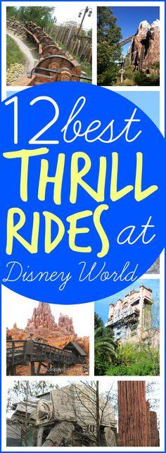 12 Best Thrill Rides at Disney World - List of top Walt Disney World thrill rides you must try once! Raising Whasiansw via @raisingwhasians