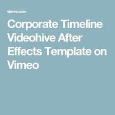 Time Line After Effects Template YouTube Motion Graphics - After effects timeline template