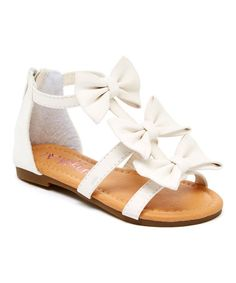 Another great find on #zulily! White Cute Sandal by Yokids #zulilyfinds