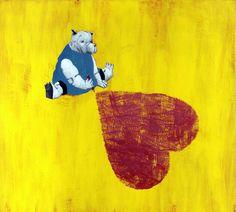 Illustration originale de Carll Cneut - Coeur de papier | Oeuvres | Galerie Robillard