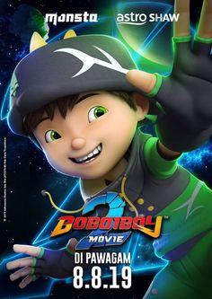 Galaxy Movie, Boboiboy Galaxy, Anime Galaxy, Super Hiro, Villain Names, In Cinemas Now, Boboiboy Anime, Elemental Powers, Two Movies