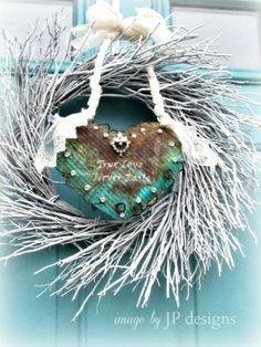 Rusty Heart Valentine Wreath