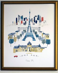 Paris Eiffel Tower limited release by albiedesigns on Etsy, $35.00