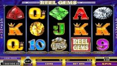 #ReelGems video slot features sparkling precious gemstones, a very exciting re-spin function and 243 Ways to Win. It's a real #gem to play, so read on below to find out more.  As expected, this #slot# has diamonds, opals, sapphires, emeralds and rubies. There are no pay-lines, but you have 243 ways to get #wins.