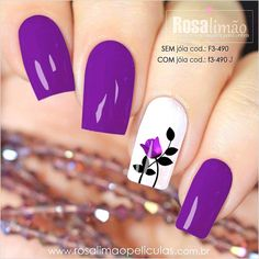 What Christmas manicure to choose for a festive mood - My Nails Purple Nail Art, Pretty Nail Art, Colorful Nails, Spring Nails, Summer Nails, Red Nails, Hair And Nails, Flower Nails, Stylish Nails