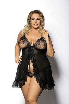 Babydoll med sexigt skira kupor, plus size Lingerie Chic, Curvy Girl Lingerie, Plus Size Lingerie, Lingerie Models, Body Plus Size, Plus Size Model, Plus Size Dessous, Sexy Women, Curvy Women