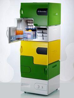 Stackable mini fridges