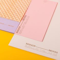 Bishop — Moves collateral for a Melbourne based PR company. Pantone spot on @gfsmithpapers Colourplan
