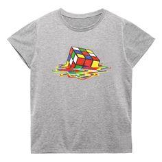 Summer Funny Cube Printed T-shirts Men Cotton Short Sleeve O-neck Men Tshirts Fashion Street Style Fitness Brand Tee shirts F3