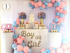 16 Trendy Baby Shower Ideas For Boys Decorations Balloons Birthday Parties 16 Trendy Baby Shower Ideas For Boys Decorations Balloons Birthday Parties reveal ideas for party Gender Reveal Themes, Gender Reveal Balloons, Gender Reveal Party Decorations, Baby Shower Decorations For Boys, Birthday Decorations, Baby Reveal Ideas, Gender Reveal Cookies, Parties Decorations, Gender Party