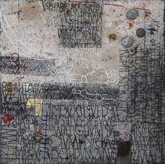 Under a Cherry Moon - Gemengde techniek op linnen - 60 x 60 cm - 2010