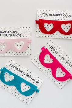 Free printable Valentine's Day card with DIY superhero mask instructions at 100 Layer Cake-let