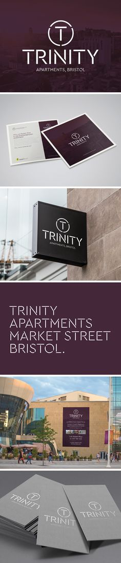 Trinity Apartments Branding which included: - Branding - Printed Literature & Stationery - External Graphics - Signage Bristol, Apartments, Signage, Literature, Stationery, Branding, Graphics, Printed, Creative