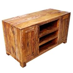 Appalachian Rustic Solid Wood Expandable Media Console