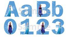 Frozen Alphabet & Numbers - FREE PDF Download
