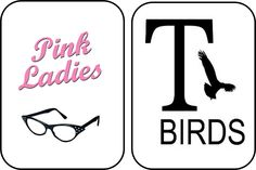Event Therapy: The Pink Ladies - Bridal Shower - Bathroom door signs