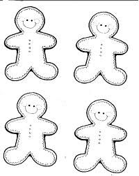 Gingerbread men print on brown paper to make garland