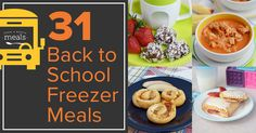 Make school lunch boxes more exciting and less mundane. Back to school freezer meals can be made ahead of time and frozen, then thawed for lunchtime. EASY!