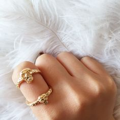 Double Skull Ring  Perfect for Spring! For the edgy chic fashionista.  Click here to find it: https://www.etsy.com/listing/231502671/double-wrap-skull-ring-double-skull-ring?ref=shop_home_active_13