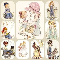 Sara Kay Sarah Key, Sara Key Imagenes, 3d Pictures, Holly Hobbie, Pretty Dolls, Pretty Art, Copics, Colouring Pages, Vintage Cards