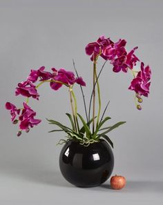 Pink Orchids in Glass Vase Artificial Orchids, Artificial Flower Arrangements, Pink Orchids, Master Bedroom, Glass Vase, Beautiful, Fake Flower Arrangements, Master Suite, Artificial Floral Arrangements