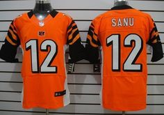 Nike Cincinnati Bengals #12 Mohamed Sanu Orange Elite Jersey
