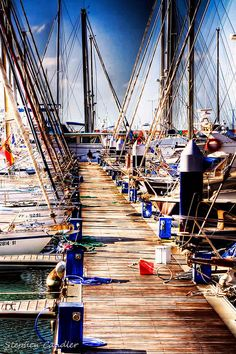 Moorings, marina, Punto Sherry, El Puerto de Santa Maria, Spain   Stephen Candler, Light+Shade on flickr