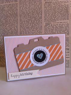 {scrappy} owls camera birthday card