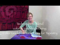 Color Gradation Techniques for Tapestry Tapestry Online, Weaving Tools, Tapestry Weaving, Weaving Techniques, Student Work, Workshop, Teacher, Feelings, Learning