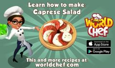 Looks good doesn't it? World Chef, Salade Caprese, App Store Google Play, A Table, Projects To Try, How To Make, Food, Itunes, Apple