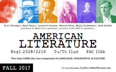 Take an American Literature class in the Fall of 2017 at #LSCKingwood.