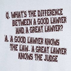 A Good Lawyer Or A Great Lawyer Funny Novelty T Shirt - Rogue Attire