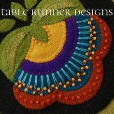 Wool Applique Patterns - Table Runner