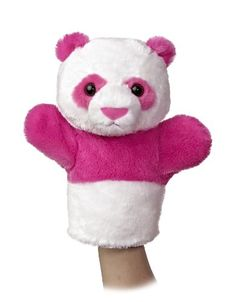 Aurora World Sleeve Panda Plush Puppet 10 Tall -- To view further for this item, visit the image link.