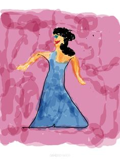 Fashion Doodle 1 digital, drawn with Wacom Tablet, copyright 2012 by A. Dameron #30DaysofCreativity #30DoC #Day11  (Yeah, it's kinda rough. Still getting the handle on my Bamboo. LOL)
