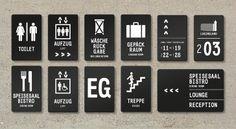 Signage Youth Hostel Nuernberg / by Melville Brand Design Web Banner Design, Web Design, Environmental Graphic Design, Environmental Graphics, Exhibition Stand Design, Signage Design, Branding Design, Hotel Signage, Wayfinding Signs