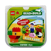 Pin the Hat on Farmer Ted game (using poster from the House Party kit) #LegoDuploParty
