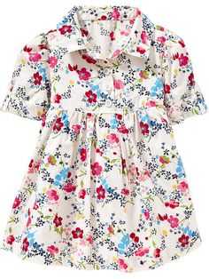 Floral Shirt Dresses for Baby Product Image