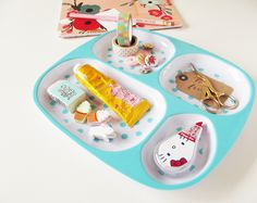 I found this picnic tray which works even better as a desk tidy! #stationery