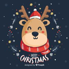 Discover thousands of copyright-free vectors. Graphic resources for personal and commercial use. Thousands of new files uploaded daily. Noel Christmas, Christmas Animals, Christmas Images, Christmas Design, Xmas, Merry Christmas Vector, Merry Christmas Wishes, Message Wallpaper, Photo Wallpaper