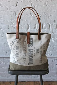 1930's era White Mountain Brand Seed Bag Carryall - FORESTBOUND
