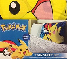 Kids' Sheet Sets - Pokemon 3 Piece Twin Sheet Set * Check out this great product.
