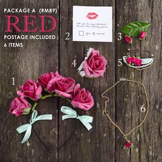 Floral Valentine Package A | RED  $30