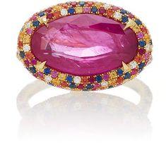 Martin Katz One-Of-A-Kind Pink-Red Modified-Oval Ruby Ring luxury jewelry Ruby Jewelry, Amethyst Jewelry, Pink Jewelry, I Love Jewelry, Luxury Jewelry, Turquoise Jewelry, Diamond Jewelry, Jewelry Rings, Eye Jewelry
