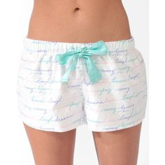 FOREVER 21 Beauty Dreams PJ Shorts ($6.80) ❤ liked on Polyvore