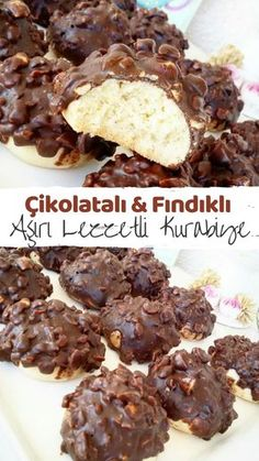 Çikolatalı Fındıklı Kurabiye Aşırı Lezzetli – Nefis Yemek Tarifleri How to Make Chocolate Hazelnut Cookie Over Delicious Recipe? Illustrated explanation of this recipe in person's book and photographs of those who try it are here. Chocolate Hazelnut Cookies, Chocolate Desserts, Baby Food Recipes, Snack Recipes, Cooking Recipes, Easy Cooking, Healthy Cooking, Chocolates, Candy